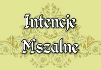 Intencje Mszalne 19 maja.